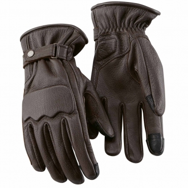 ROCKSTER GLOVES, unisex Brown